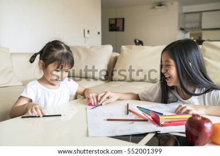 child having a tough time along with homework