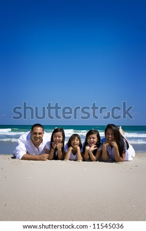 Family having fun on vacations