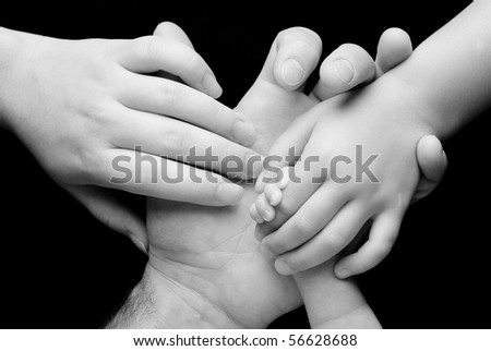 Family Holding Hands - stock photo