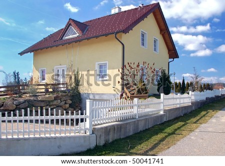 Family House in Austria - stock photo