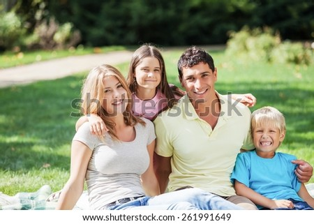 Family, House, Residential Structure. - stock photo