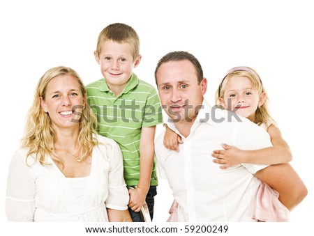 Family isolated on white background