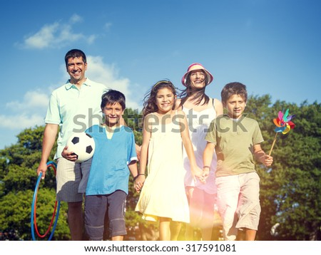 Family Leisure Summer Vacation Holiday Happiness Concept
