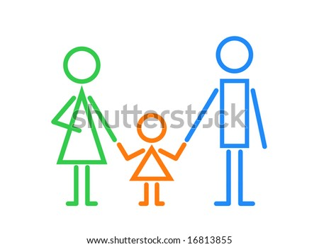 family logo - stock photo