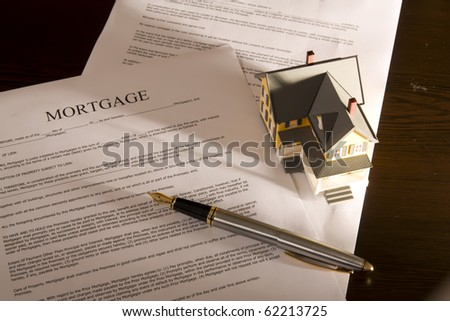 Family mortgage loan statement on desktop