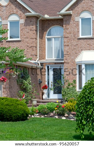 Family new country house - stock photo