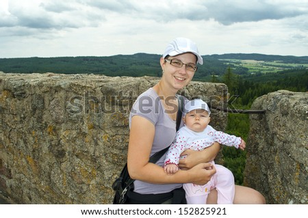 family on llookout tower