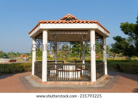 Family Park, Abu Dhabi, United Arab Emirates - November, 2014: Family park is one of the most popular parks in the city of Abu Dhabi because its area is big and many beautiful things to see. - stock photo