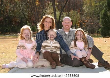Family photograph - stock photo