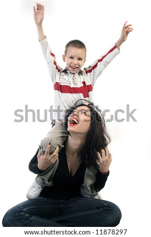 Family Playing - stock photo