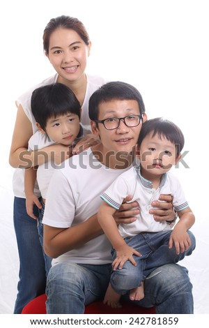 Family portrait fun and join together