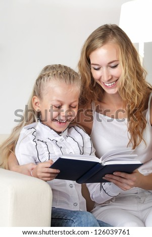 family read - stock photo