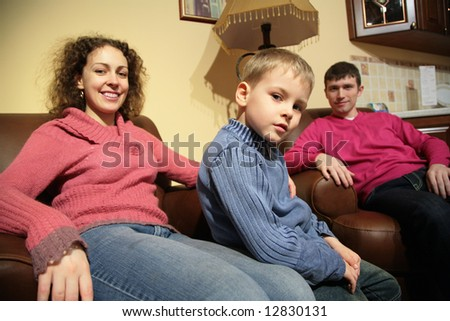 Family rest in room