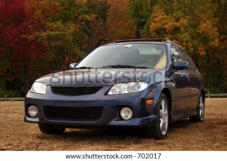 family sedan - stock photo