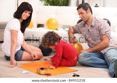 Family spending quality time together - stock photo