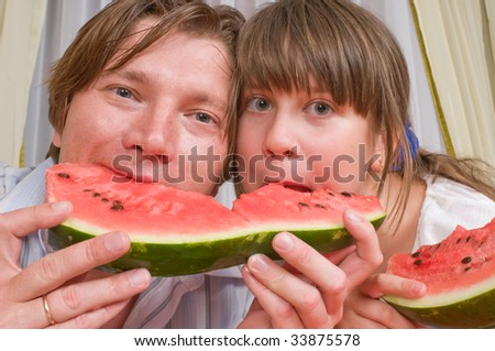 Family. The daddy's segment of a water-melon is more tasty.