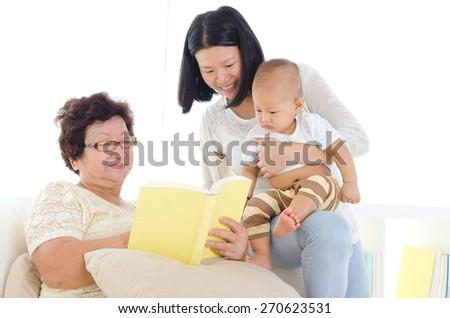 Family time - stock photo