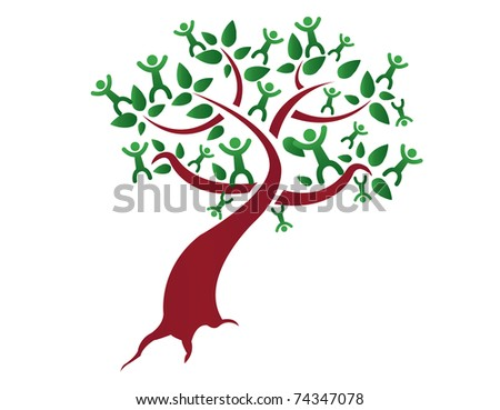 Family tree, relatives illustration design isolated over a white background - stock photo
