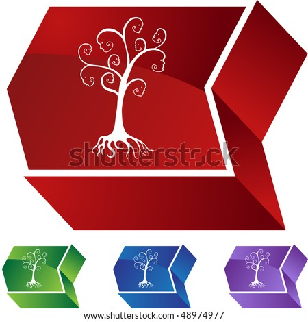Family Tree web button isolated on a background. - stock photo