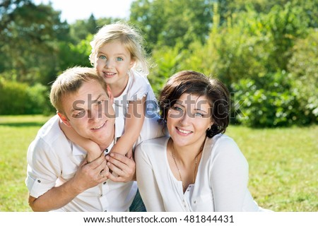 family with children in the park