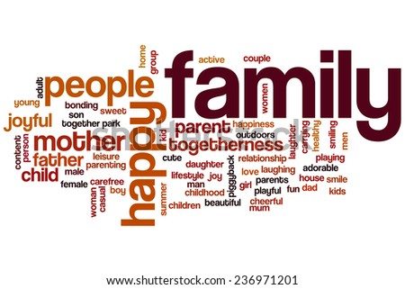 Family word cloud concept - stock photo