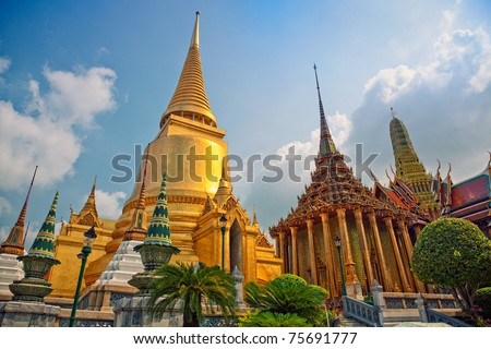 "Famous  Bangkok   Temple - ""Wat Pho""  photo - stock photo"