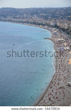 Famous Beach of Nice (French Riviera)