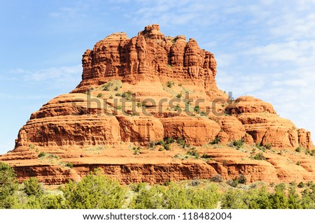 famous bell rock and Courthouse Butte in Sedona, Arizona, USA