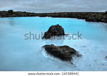 Famous Blue Lagoon, Iceland - stock photo