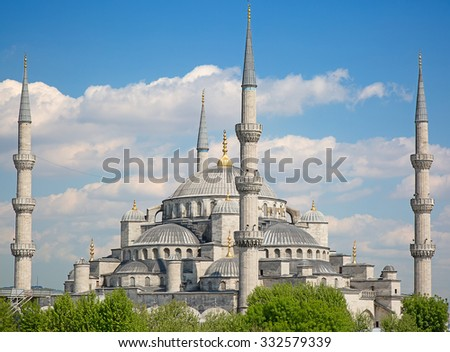 "Famous ""Blue mosque"" in Istanbul, Turkey - stock photo"