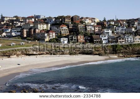 Famous Bronte Beach On A Summer Day, Sydney, Australia - stock photo