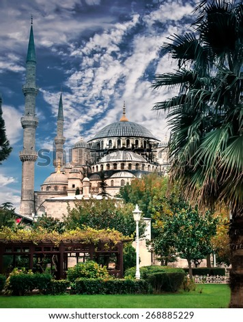 Famous Byzantine Church Hagia Sophia, Istanbul, Turkey - stock photo