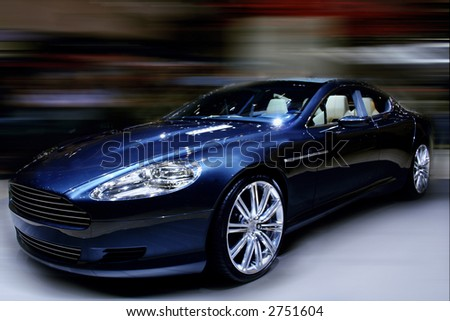 Famous Car on display (with blurred background) - stock photo
