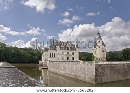 Famous castle Chenonceau. Loire Valley, France.