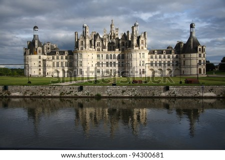 Famous Chambord castle in France (Loire Valley) - stock photo