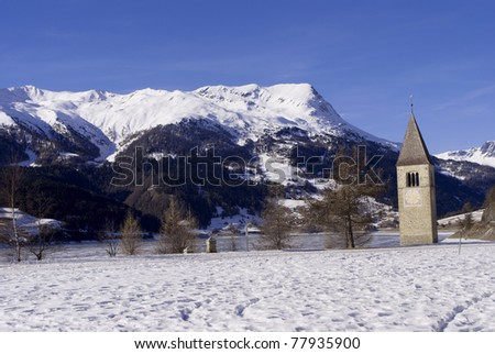 famous church in the Reschensee