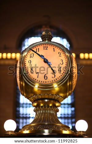 Famous clock of grand central station - stock photo
