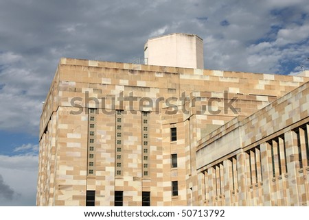 Famous Forgan Smith building at the University of Queensland, Brisbane, Australia. - stock photo