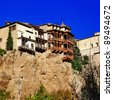 Famous Hanging houses of Cuenca, Spain - stock photo