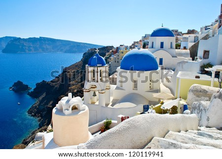 Famous hill, Oia village