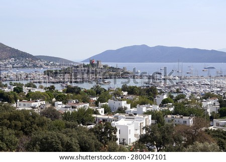 Famous holiday resort in Turkey, Bodrum - stock photo