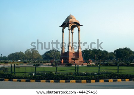 Famous Indian place in Delhi - India Gate - stock photo