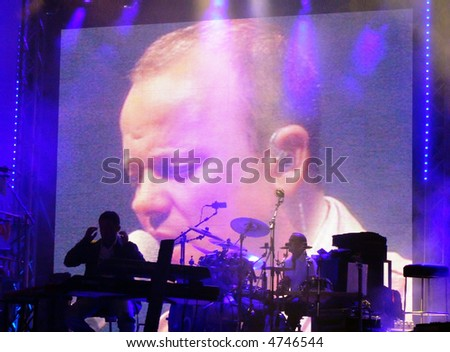 Famous Italian Neapolitan singer Gigi d'Alessio live in Malta on the 11th August 2007 - stock-photo-famous-italian-neapolitan-singer-gigi-d-alessio-live-in-malta-on-the-th-august-4746544