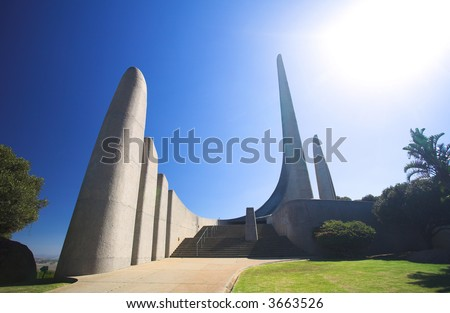 Famous landmark of the Afrikaans Language Monument in Paarl, Western Cape, South Africa