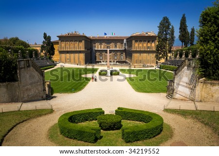 Famous landscape in Firenze (Florence), Italy - stock photo