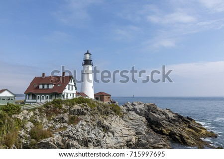 famous lighthouse in Portland, Maine, USA