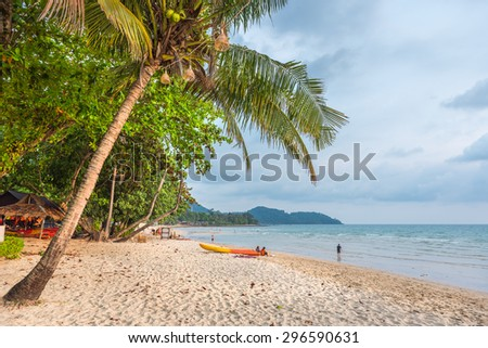 Famous Lonely Beach at the Koh Chang island, Thailand - stock photo