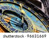 Famous medieval astronomical clock in Prague, Czech Republic - stock photo