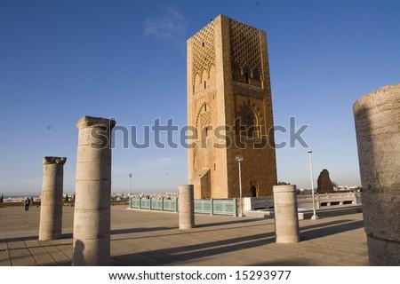 Famous minaret in Rabat - stock photo