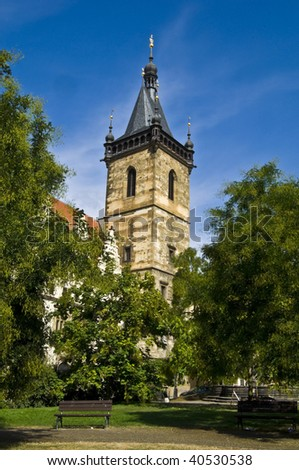 famous new town hall in Prague where the defenestrations took place